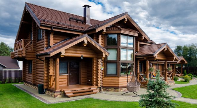 Особенности дома из оцилиндрованного бревна