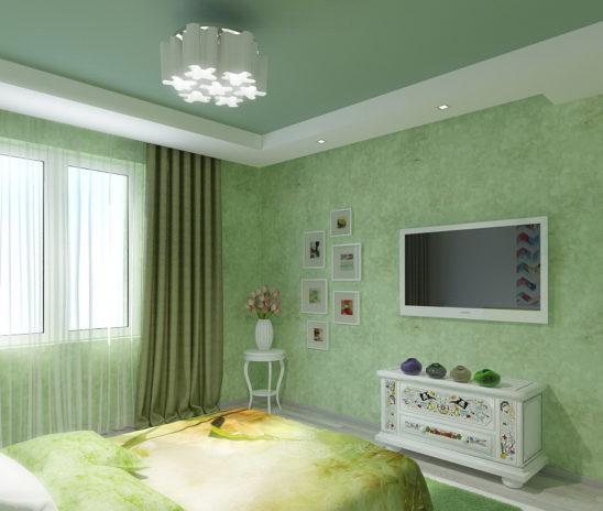 Натяжной потолок в спальне: как выбрать?